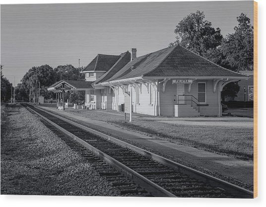 Palatka Train Station Wood Print