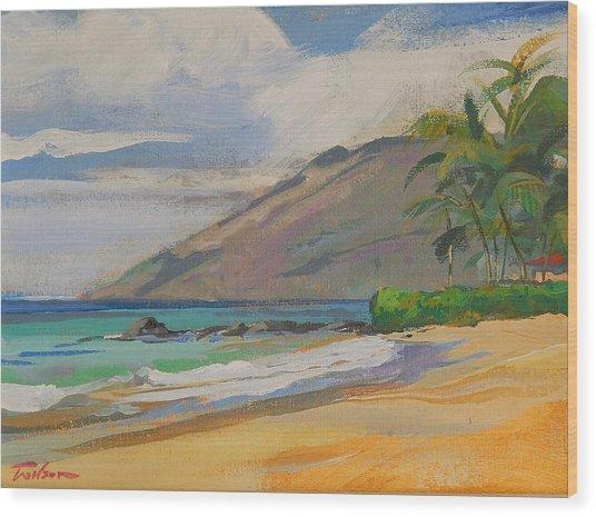 Palauea Beach Wood Print by Ron Wilson