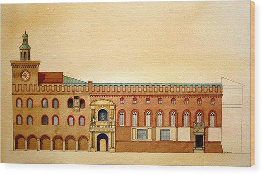 Palazzo D'accursio Bologna Italy Wood Print