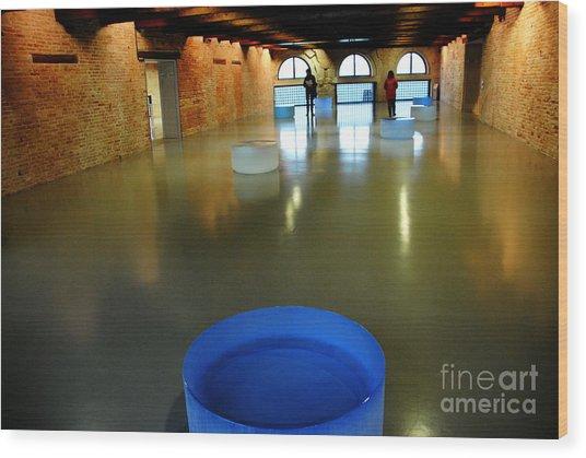 Palazzo Grassi Exhibit Wood Print by Jacqueline M Lewis