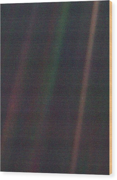 Pale Blue Dot Wood Print by Nasa/science Photo Library