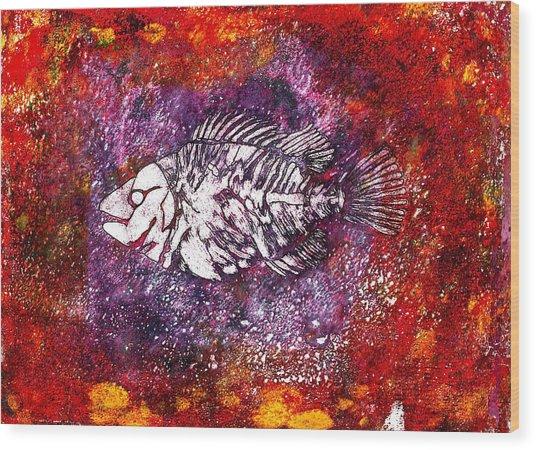 Paleo Fish Wood Print