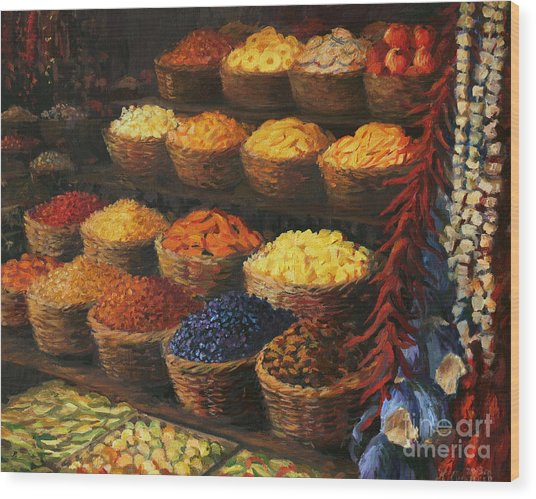 Palette Of The Orient Wood Print
