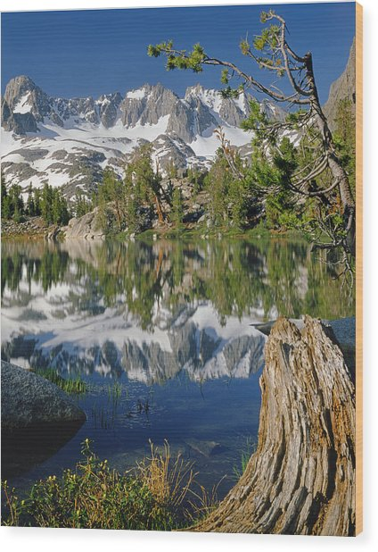 2m6443-v-palisade Peaks And Summit Lake V Wood Print