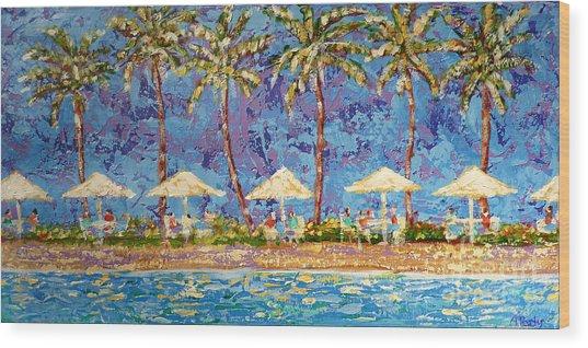Palm Beach Life Wood Print