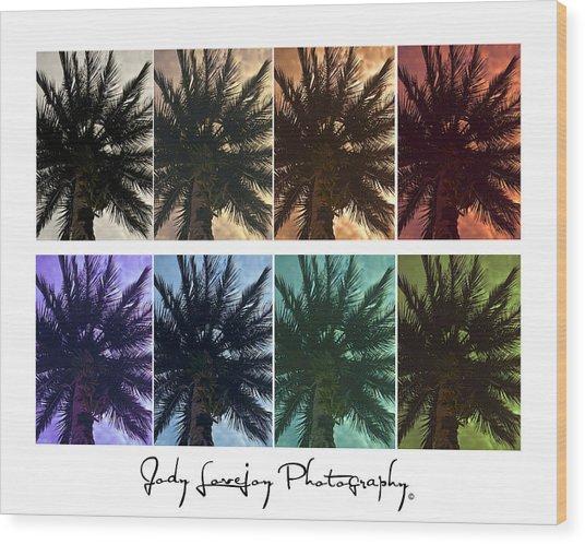 Palm Shades Wood Print