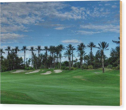 Palm Springs Hdr 008 Wood Print by Lance Vaughn