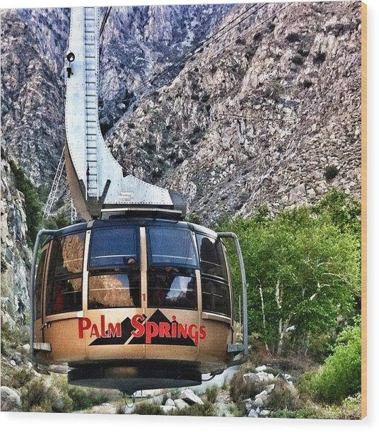 Palm Springs Tram 2 Wood Print