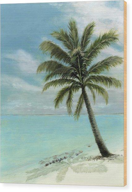 Palm Tree Study Wood Print