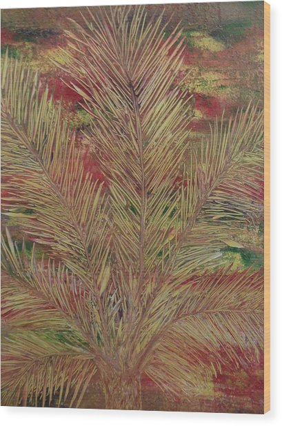 Palme Wood Print by Nico Bielow