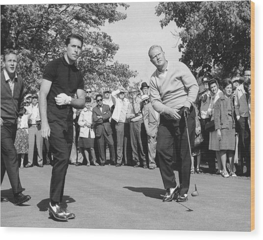 Palmer, Player And Nicklaus Wood Print