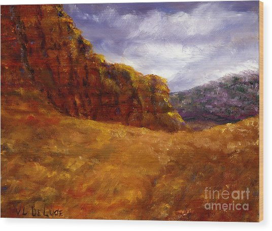 Palo Duro Canyon Texas Hand Painted Art Wood Print