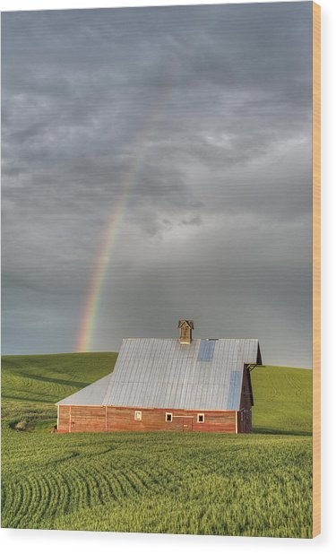 Palouse Rainbow Wood Print