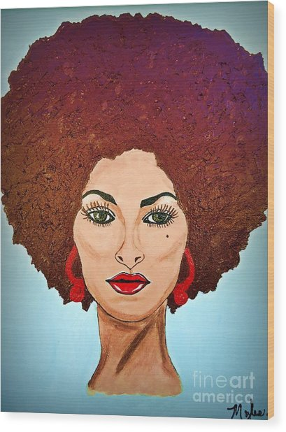 Pam Grier C1970 The Original Diva Wood Print