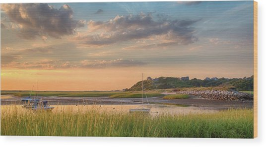 Pamet Harbor In Afternoon Wood Print by Betty Wiley