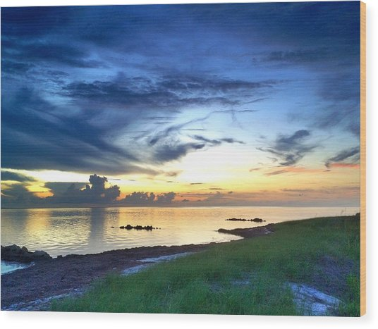 Pamlico Sunset Wood Print