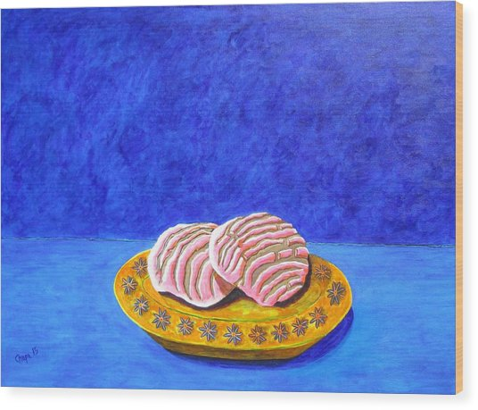 Pan Dulce Azul Wood Print
