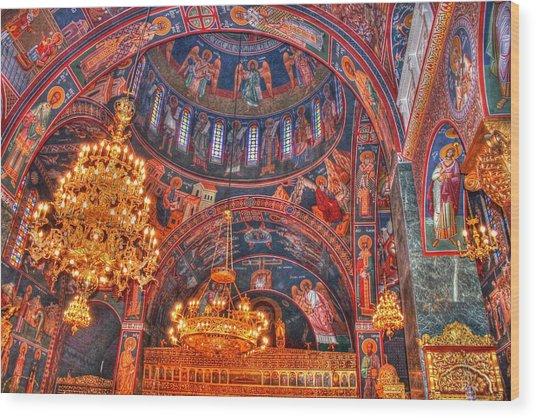 Panagia Katholiki Kremasti Rhodes Wood Print