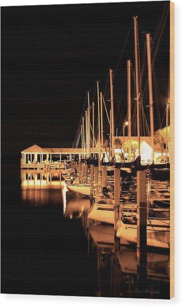 Panama City Marina Wood Print