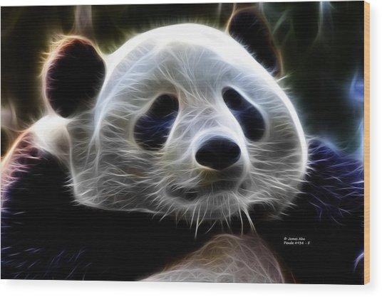 Panda - 4934 - F Wood Print by James Ahn