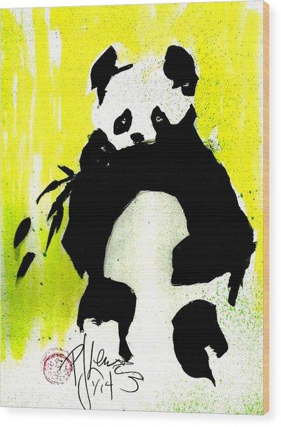 Panda Haiku Wood Print