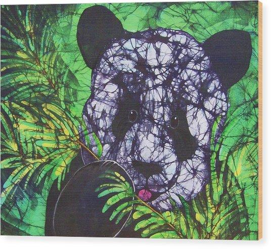 Panda Snack Wood Print