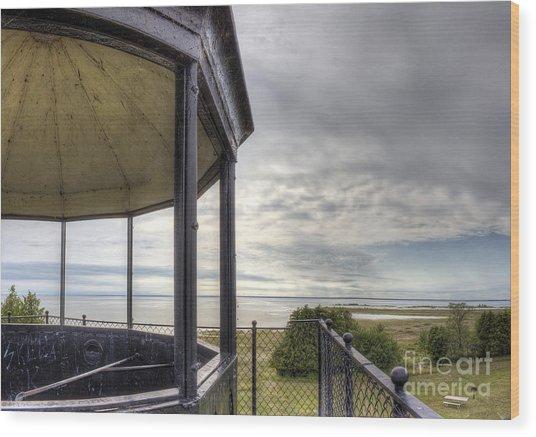 Paninsula Point Lighthouse Lantern Room Wood Print by Twenty Two North Photography