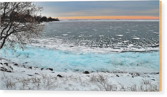 Panorama Freeze - Horsey Bay - Kingston - Canada Wood Print
