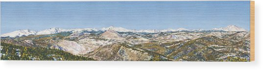 Panorama From Flagstaff Mountain Wood Print by Anne Gifford