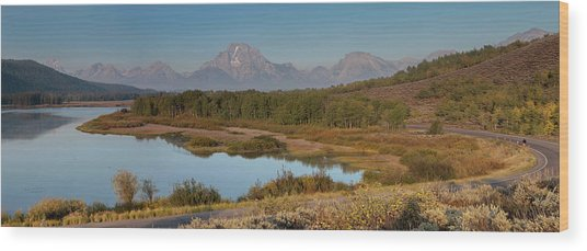 Panorama Horseshoe Bend Grand Teton Wood Print