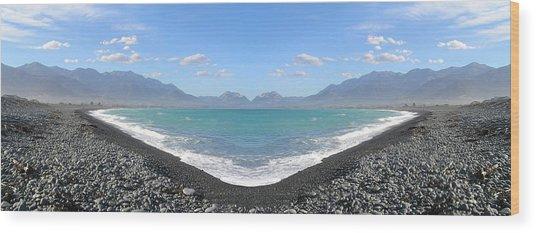 Panorama Lake Wood Print