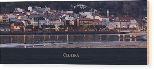 Panorama Of Cedeira Galicia Spain Wood Print
