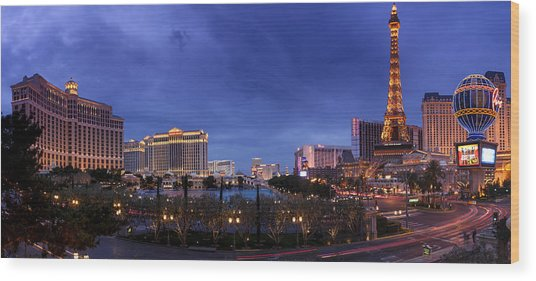 Panorama Of Las Vegas Wood Print