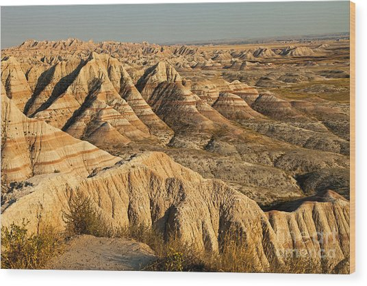 Panorama Point Badlands National Park Wood Print