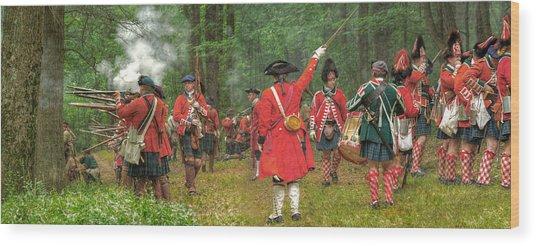 Panoramic Battle Of Bushy Run Wood Print by Randy Steele