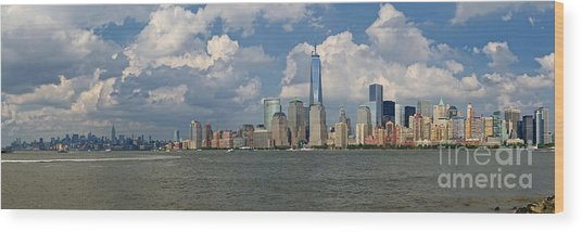 Panoramic Of New York City Wood Print