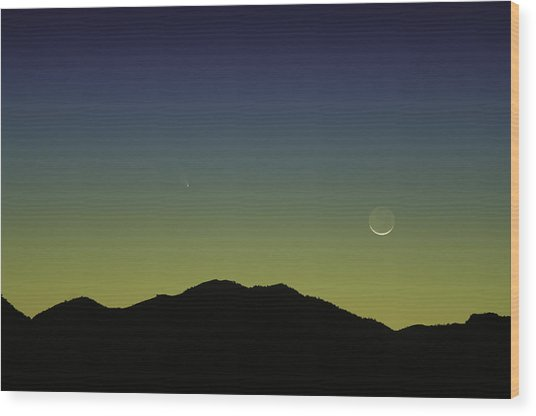 Panstarrs Comet Wood Print