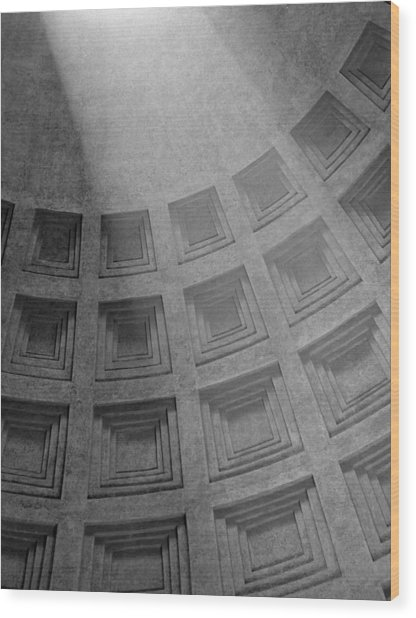 Pantheon Ceiling Wood Print