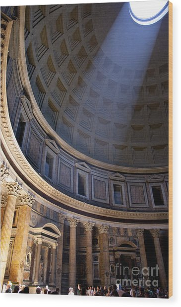 Wood Print featuring the photograph Pantheon Interior by Brian Jannsen
