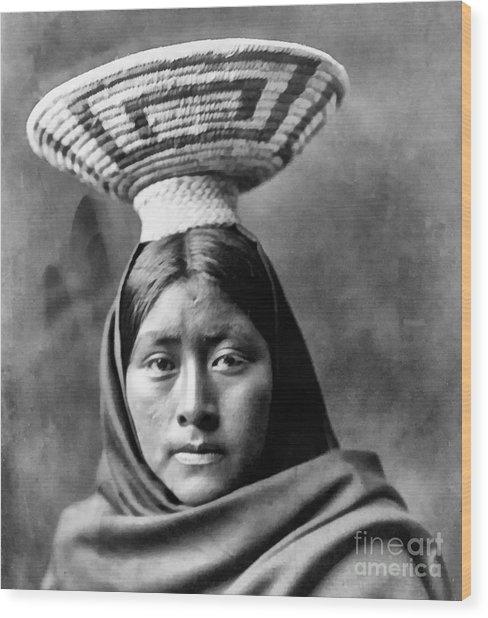 Papago Indian Luzi Wood Print