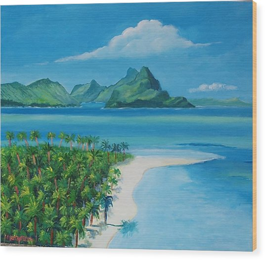 Papeete Bay In Tahiti Wood Print