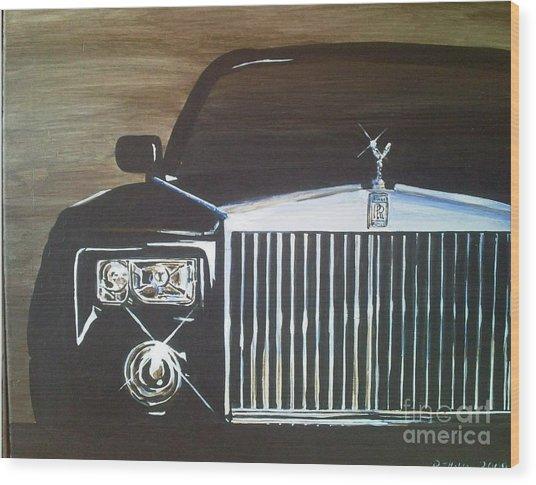 Par De Elegance Rolls Royce Phantom Wood Print by Richard John Holden RA