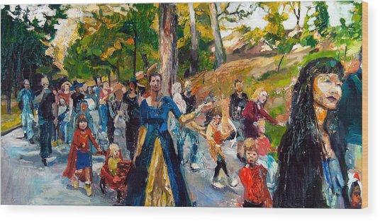 Parade IIi Wood Print by Mia Merlin