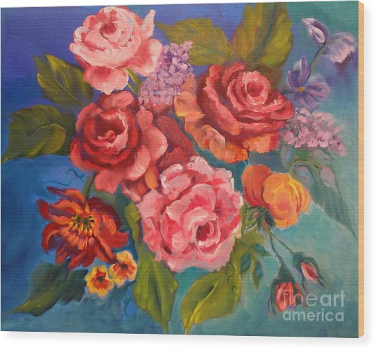 Parade Of Roses 11 Wood Print