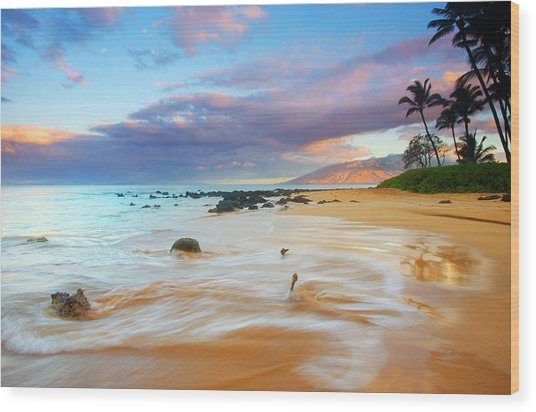 Paradise Dawn Wood Print