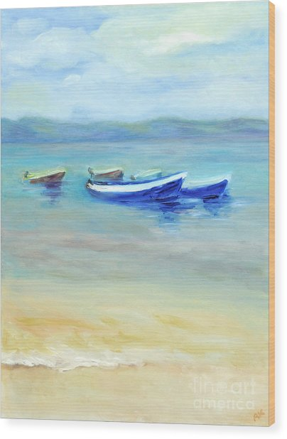 Paradise Island  Wood Print