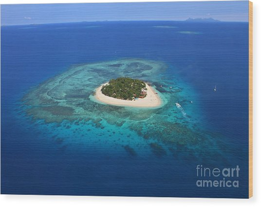 Paradise Island In South Sea I Wood Print by Lars Ruecker