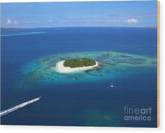 Paradise Island In South Sea II Wood Print by Lars Ruecker