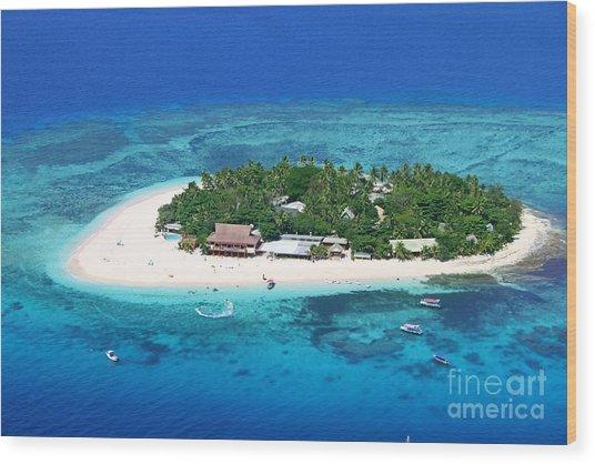 Paradise Island In South Sea IIi Wood Print by Lars Ruecker