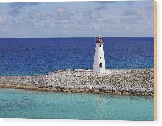 Paradise Lighthouse Wood Print